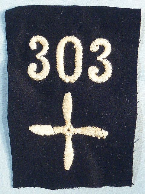 WWI 303rd Air Service Enlisted Squadron Patch