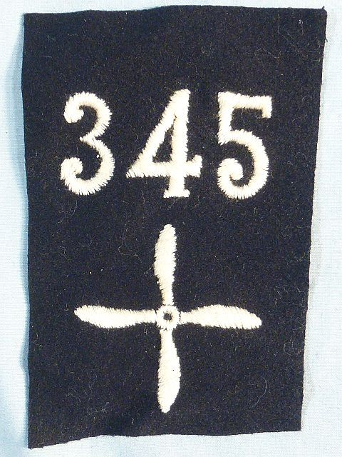 WWI 345th Air Service Enlisted Squadron Patch