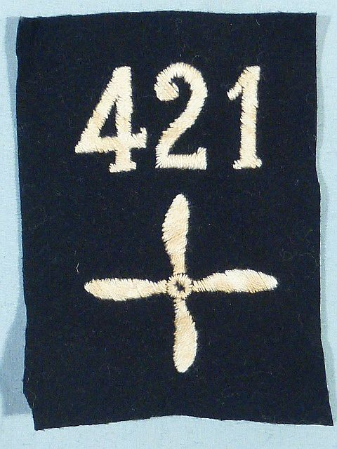 WWI 421st Air Service Enlisted Squadron Patch