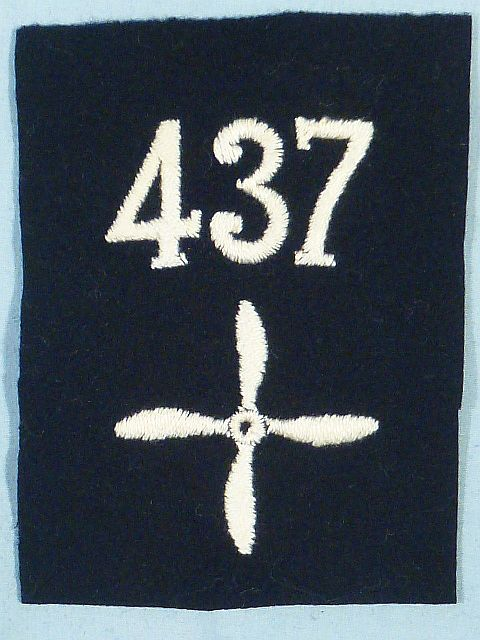 WWI 437th Air Service Enlisted Squadron Patch