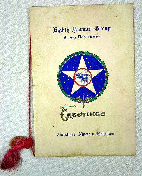 1935 Eighth Pursuit Group Christmas Menu