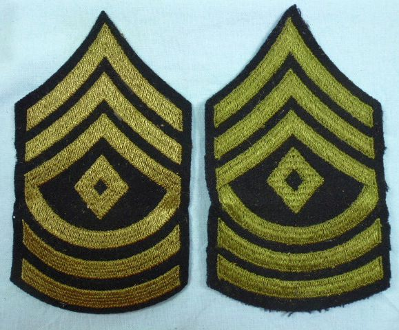 Pair of WWII First Sergeant Chevrons