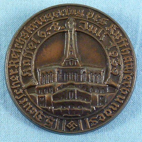 1935 Reichskriegertag Kyffhauserbund Kassel Tinnie