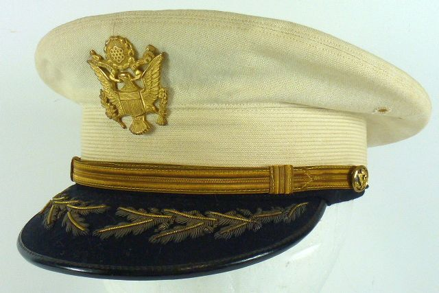 Pre-WWII Field Grade Army Officer White Top Visor Cap