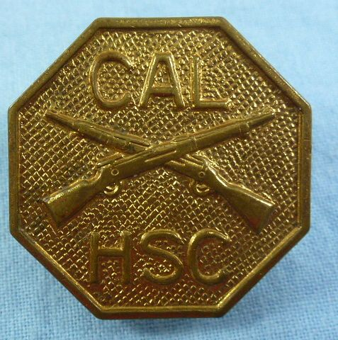California Cadet Gilt Collar Disk