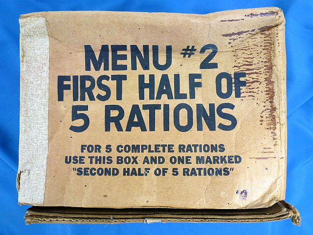 WWII Rations Cardboard Shipping Box