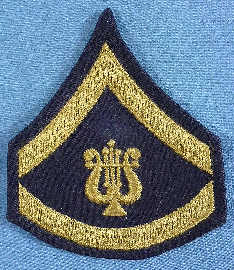 Pre WWII Musician Specialist 6th Class Cotton Chevron