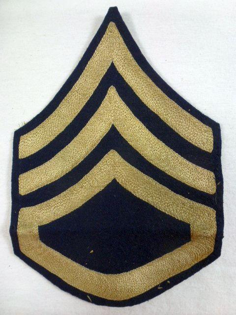 Large 1920's Staff Sergeant Chevron
