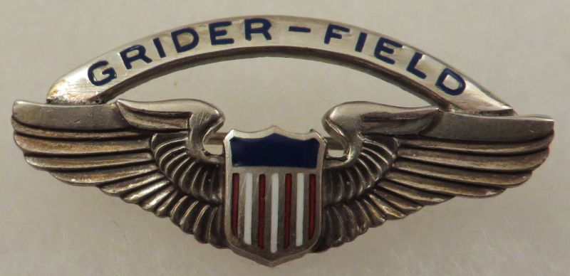 WWII Sterling Grider Field Enameled Wing