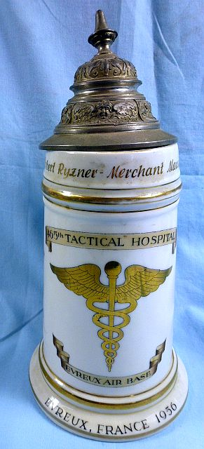 1956 Air Force 465th Tactical Hospital Souvenir Stein