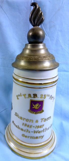 1967 25th Artillery Regiment Souvenir Stein