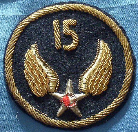 Italian Made Bullion 15th Air Force Patch