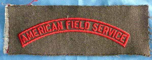 WWII American Field Service Shoulder Patch