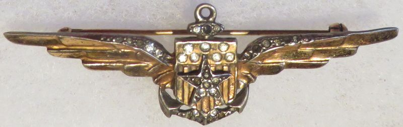 WWII Navy Aviator Sweetheart Wing