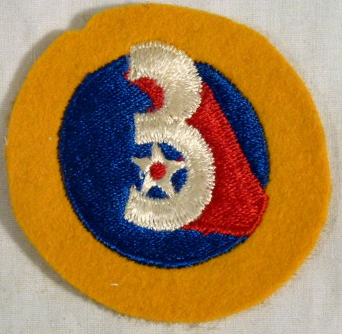 WWII 3rd Air Force Felt Patch