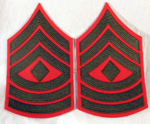 Pair Post WWII Marine Corps First Sergeant Chevrons