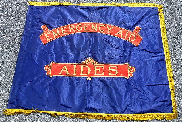 WWI Philadelphia Emergency Aid Society Flag