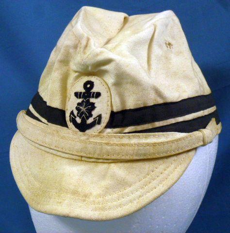 WWII Japanese Navy Officer White Field Cap