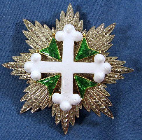 Italian Order of Saint Lazarus Breast Star