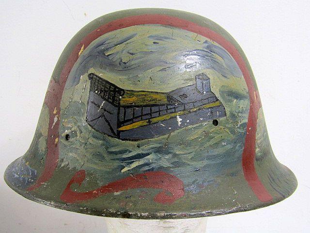 Painted Souvenir Japanese Civil Defense Helmet