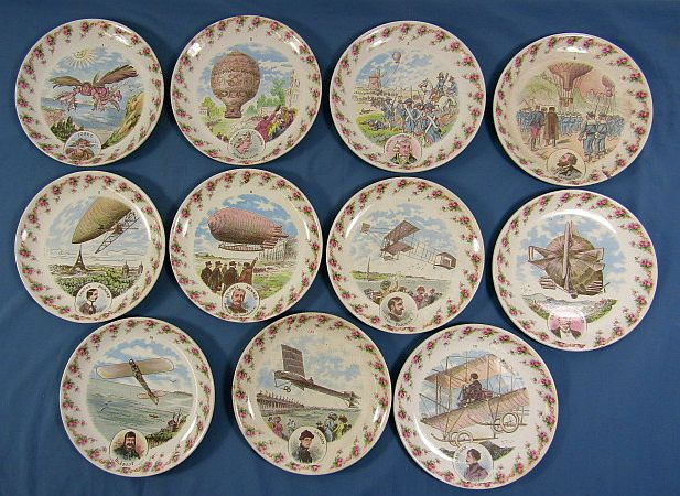 11 Early 20th Century Aviation History Plates
