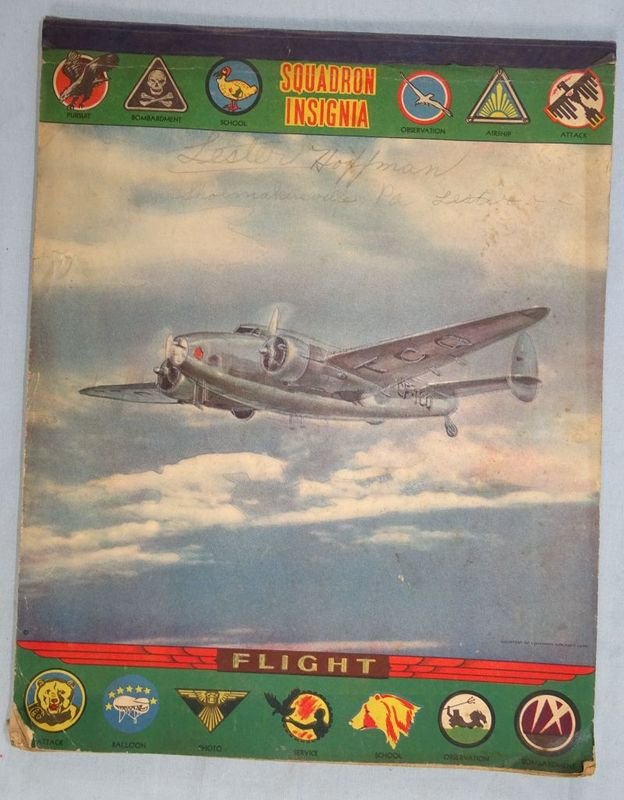 """WWII """"Squadron Insignia"""" Notebook"""