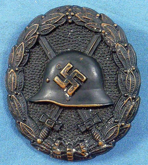 Screw Back Spanish Civil War Black Wound Badge