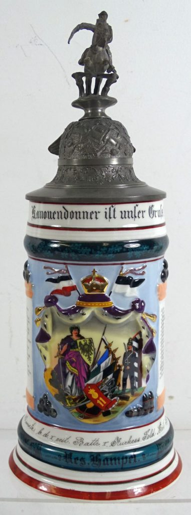 Imperial German 11th Field Artillery Mounted Unit Reservist Stein