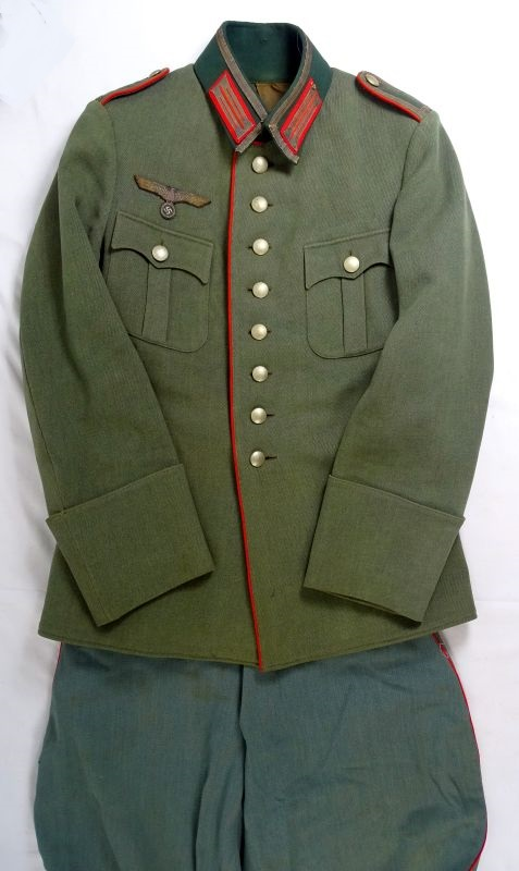 """Third Reich Army """"Old Style"""" Artillery NCO Uniform ..."""