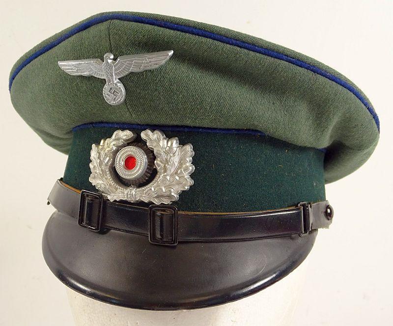 WWII German Army Medical Branch EM/NCO Visor Cap