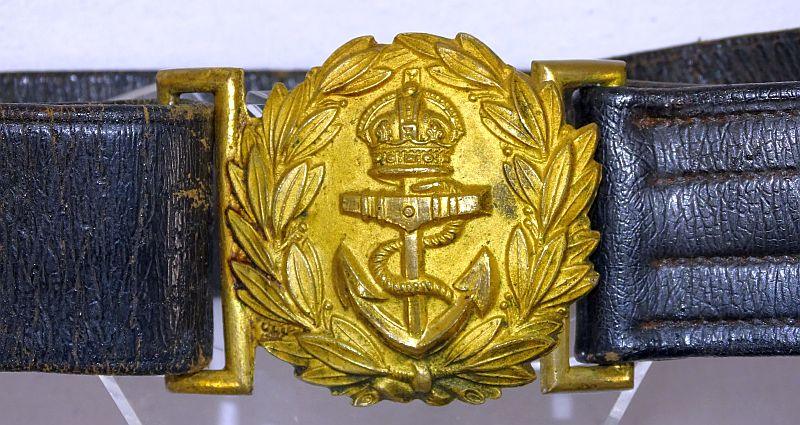 WWII British Royal Navy Officer Sword Belt