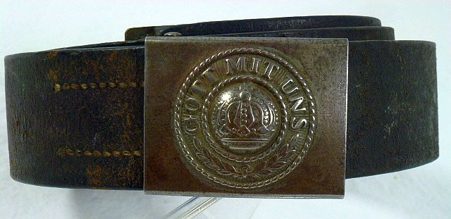 Unit Marked Western Front Army Infantry Belt and Buckle
