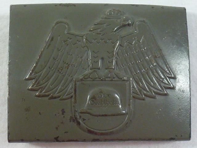 Der Stahlhelm Organization Painted Buckle