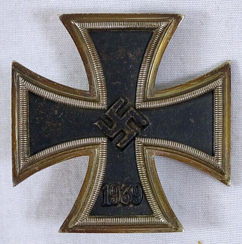 "WWII 1939 Iron Cross 1st Class marked ""20"" by C.F. Zimmermann"