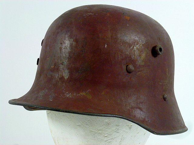 Model 1916 German Red / Brown Camo Combat Helmet