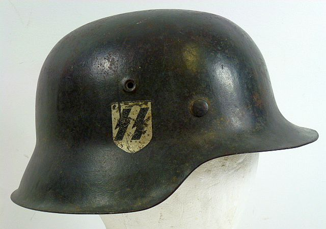 Waffen SS M42 Single Decal Combat Helmet