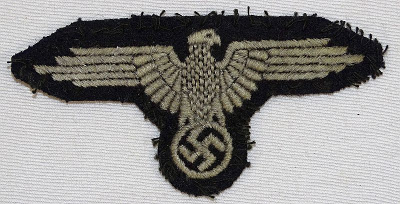 Waffen SS EM / NCO Sleeve Eagle Removed From a Uniform