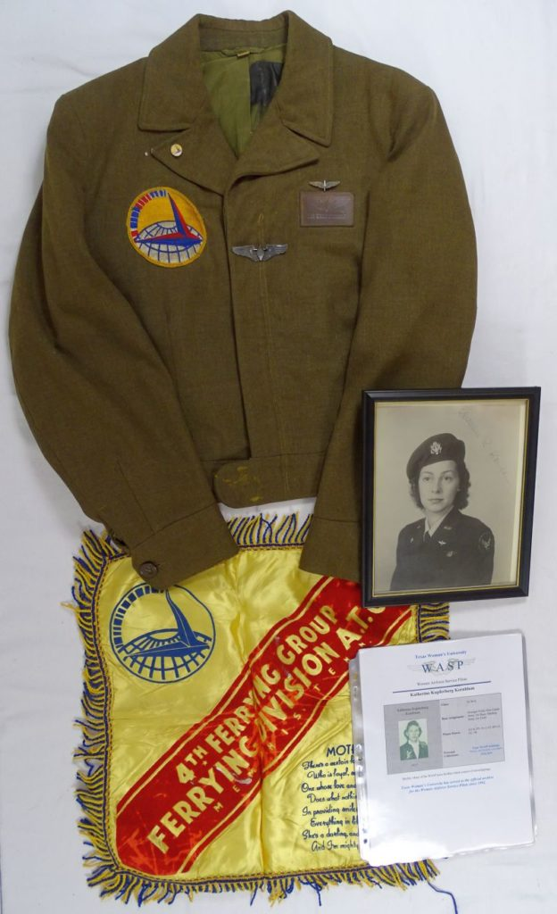 WWII Named WASP Women's Air Force Service Pilot Uniform Jacket and Wings Group