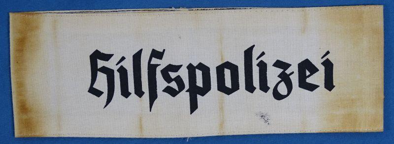 Hilfspolizei Auxiliary Police Armband