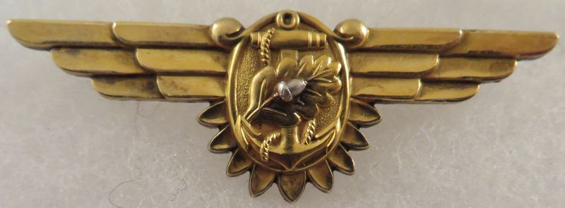 WWII U.S. Navy Sterling Flight Nurse Wing / H-H
