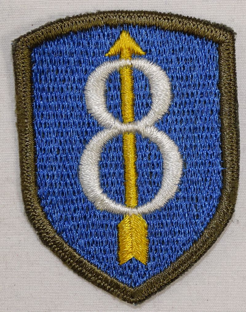 German Made 8th Division Patch