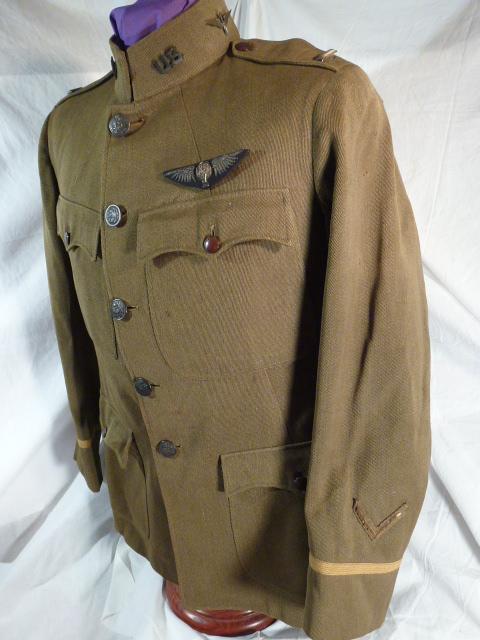 Identified WWI Balloon Pilot Uniform